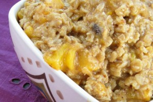 Power Protein Peach Oatmeal
