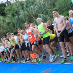runners at the beginning of a race