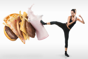 lady-kicking-fast-food