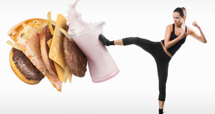lady-kicking-fast-food