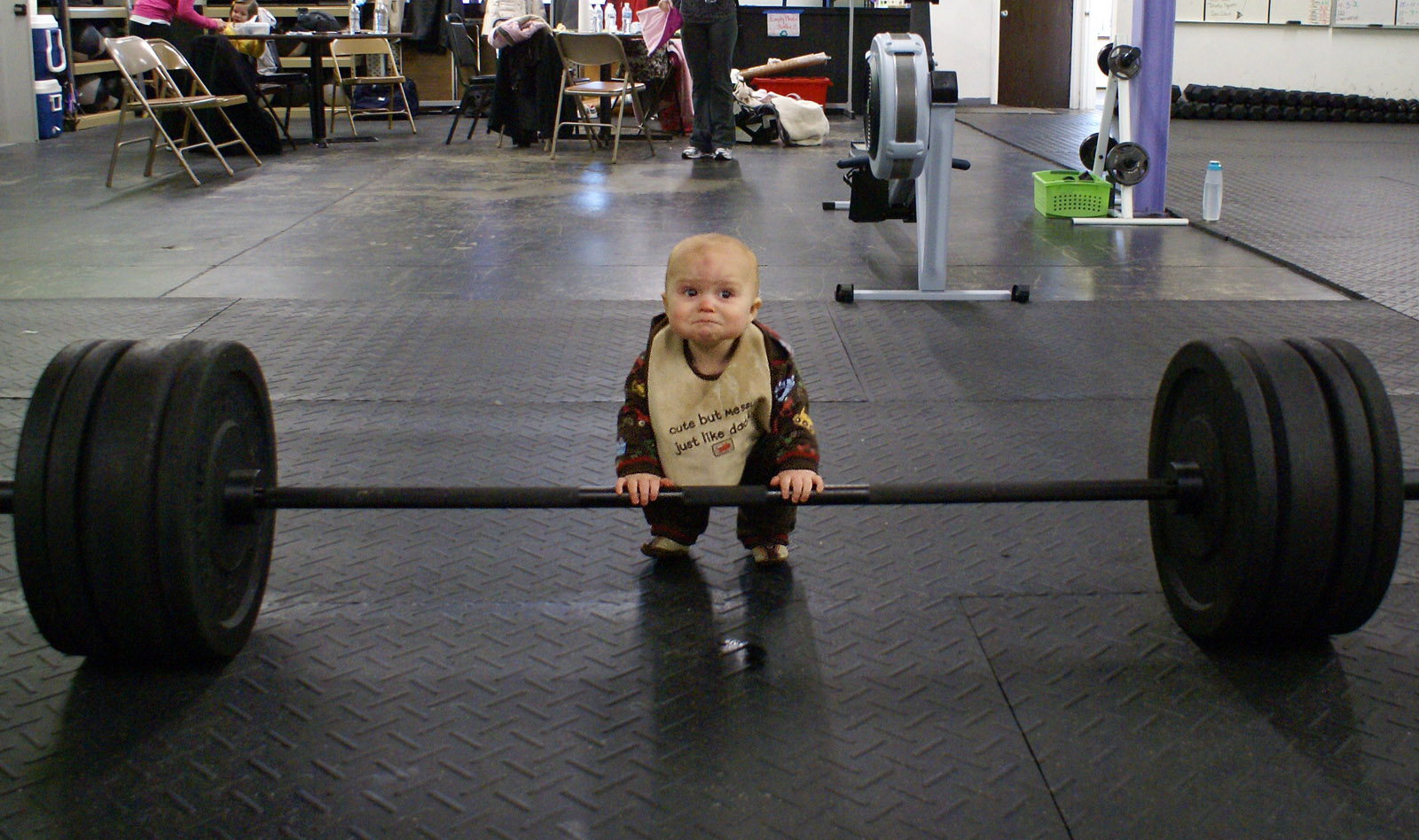 baby working out
