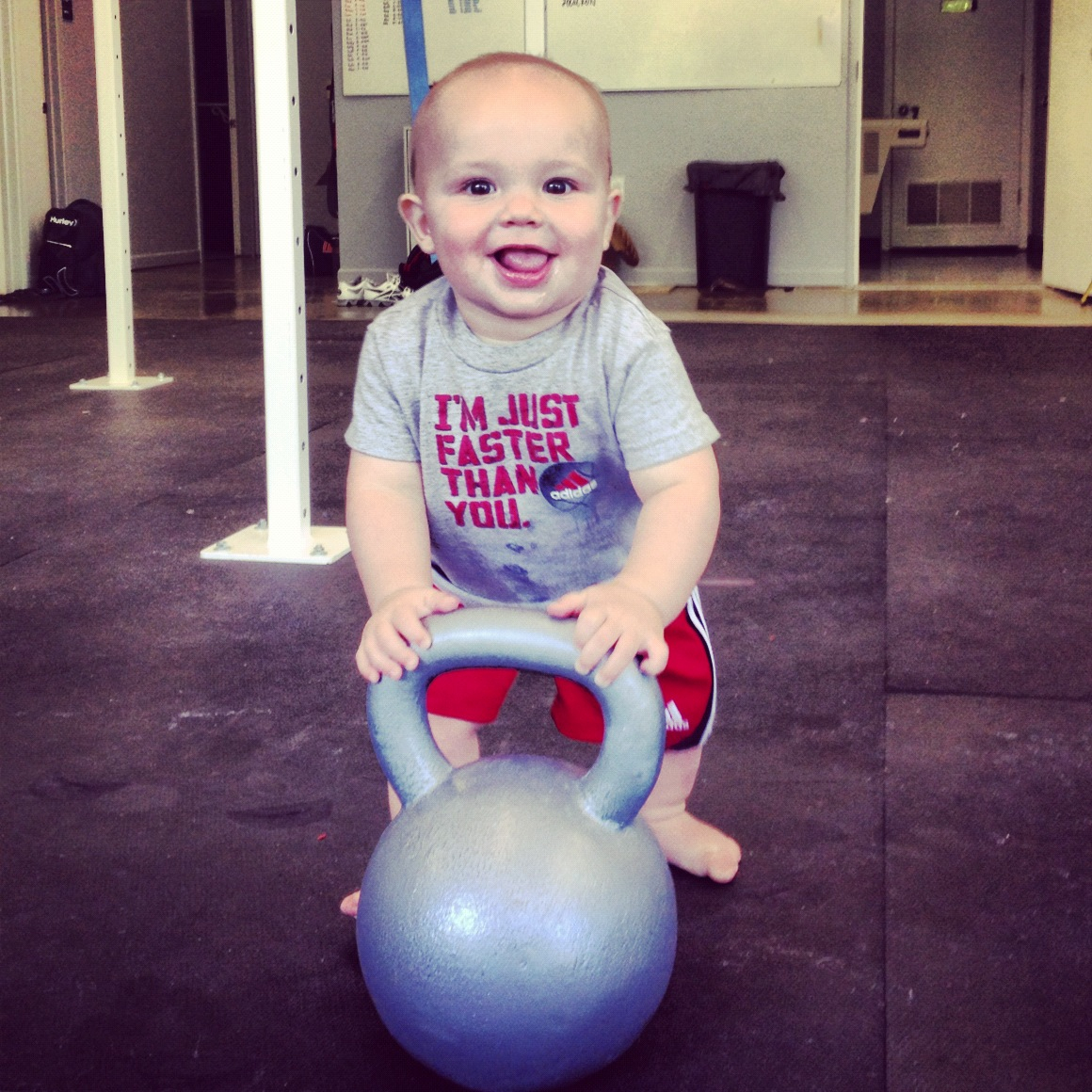 baby at the gym