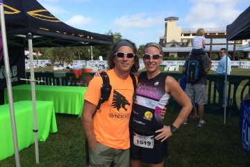 With my husband after IRONMAN 70.3 Florida in 2013