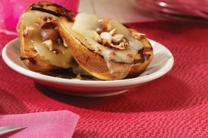 grilled-pears-with-melted-coconut butter-and-almonds