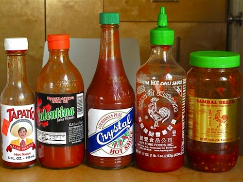 Different types of hot sauce