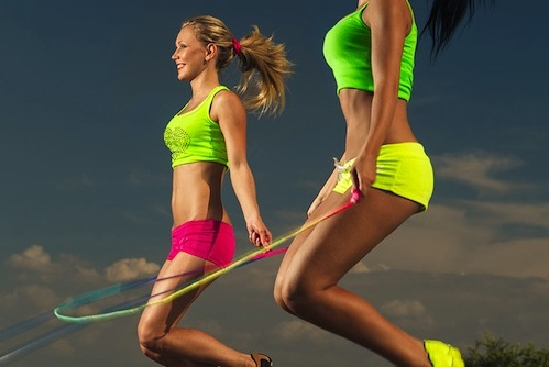 Two Women Jumping Rope