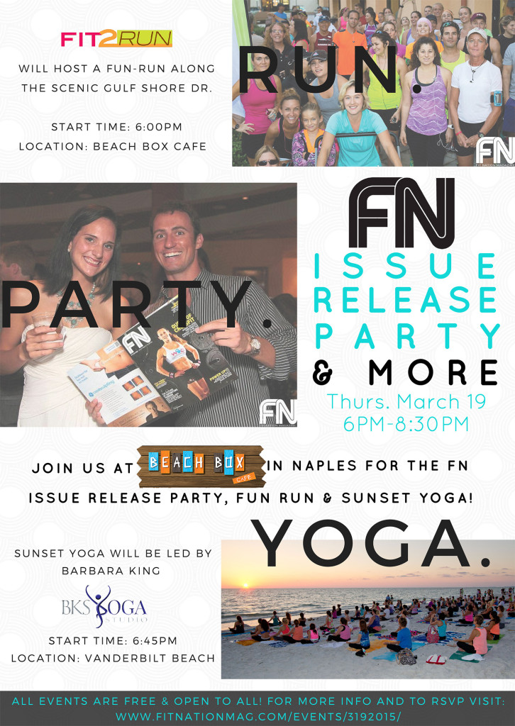 March Issue Release Party Flyer