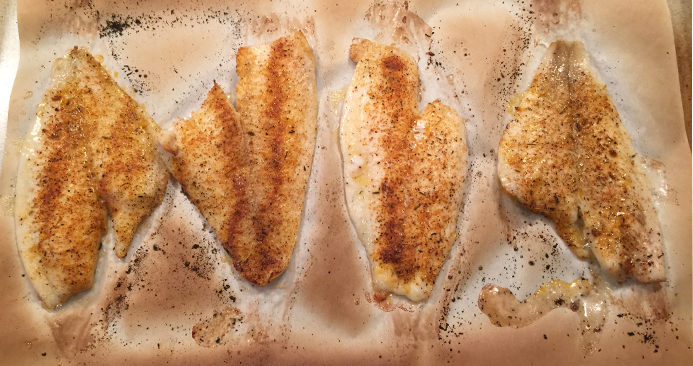 cooked flounder
