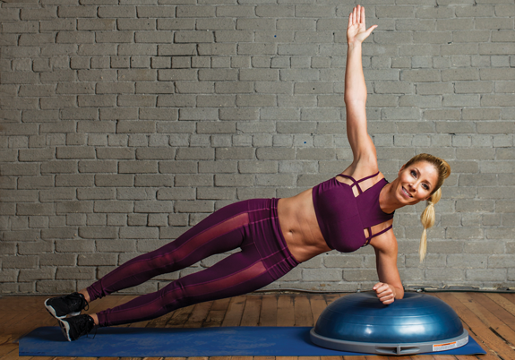 bosu advanced side plank