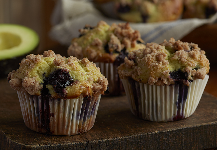Avocado-Blueberry-Muffins