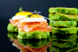 Pea Pancakes With Salmon Healthy Gut Fit Nation